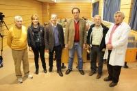Organizadores del ciclo de conferencias con motivo del Año Internacional de los suelos, junto a Antonio Delgado (cuarto por la izquierda)