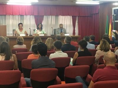 Momento de la ponencia de la magistrada de la Sala de lo Social del TSJA, Ana María Orellana Cano