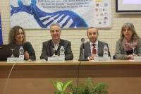 De izquierda a derecha: Carmen Ruiz Roldán (vicedecana de Planificación y Coordinación de la Facultad de Ciencias de la Universidad de Córdoba), Juan Pérez Guerrero (alcalde de Lucena), Manuel Gonzalo Navas Cortés (director del IES Juan de Aréjula) y  Mª Carmen Cardo Jalón (delegada de la OEB de Andalucía)