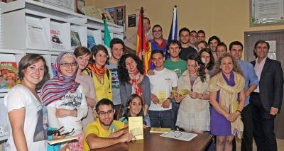 Estudiantes y tutores Erasmus celebran en Medicina el Dia de Europa