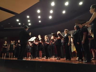 Un momento de la actuación del Coro Averroes