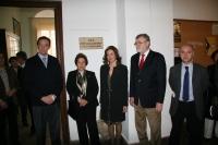 De izq a dcha Eulalio Fernández, Maria Jesus Sánchez Vizcaino, Aurora López, Jose Manuel Roldán y Alfonso Mulero