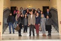 El director de la Escuela de Doctorado de la UCO, junto a representantes de la Associazione Mnemosine, Profesores de la UCO, ponentes en las Jornadas y estudiantes italianos de doctorado en la UCO