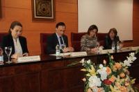 De izquierda a derecha, Carmen Tabernero, José Carlos Gómez Villamandos, Isabel Ambrosio y Mercedes Osuna, ayer en la Facultad de Educación