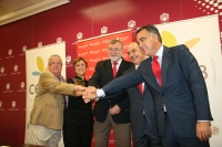 De zq a dcha, Enrique Aguilar, Isabel González, Jose Manuel Roldán, Juan Francisco Marijuán y Jose Antonio Cristóbal