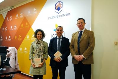 Eulalio Fernández, Alfonso Zamorano y María Martínez-Atienza en la presentación