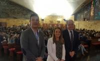 De izquierda a derecha, Eduardo Sánchez, Esther Ruiz y Antonio José Cubero.