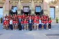 Todos los participantes del Campus en el Rectorado de la Universidad de Córdoba.