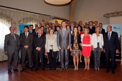 Los ectores con los Príncipes de Asturias