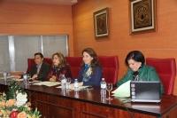 De izquierda a derecha, Alejandro Morilla, Rosario Mérida, Carmen Tabernero y Elisa Hidalgo.