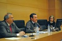 De izq a dcha Juan Manuel Moreno Calderón, Eulalio Fernández y Maria Dolores Muñoz