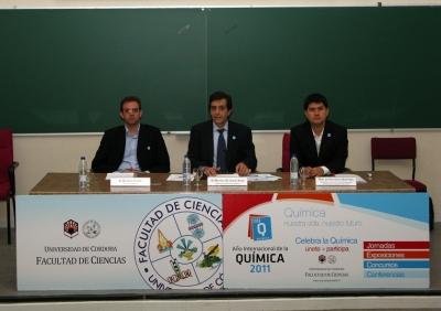 De izquierda a derecha, Rafael Luque, Manuel Blázquez y Javier García