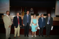 Autoridades presentes en la inauguración del seminario