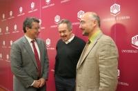 De izq. a dcha., Álvaro Pascual Leone, René Drucker-Colín e Isaac Túnez