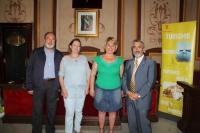 De izq. a dcha. Jose Maria Fernández, Evangelina Rodero, Aurora Rubio y Miguel Moreno