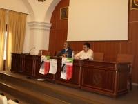 De izq a dcha Miguel Moreno y Javier Martín durante la inauguración del curso
