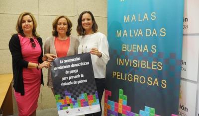 De izquierda a derecha, Rosario Mérida, María Rosal y Ana Guijarro.