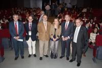De izquierda a derecha, Manuel Montero, Luis Antonio Castaño, Isaac Túnez, Marina Álvarez, Luis Jiménez y Ramón Cañete