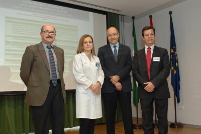 Manuel García, Marina Álvarez, Antonio Cubero y Justo Castaño