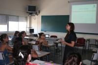 La psicóloga Eliana Moreno durante una sesión del curso