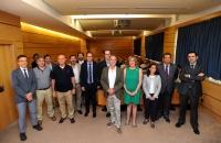 Autoridades asistentes a la inauguración del Curso de Experto Universitario en Sistemas de Refrigeración