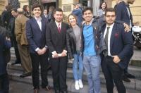 Presidentes de Consejos de Estudiantes en el último acto de toma de posesión.