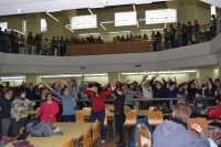 Flashmob realizada en la Biblioteca de Rabanales