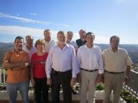 El equipo de gobierno, reunido en El Cabril