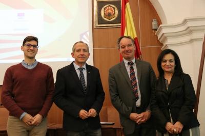 De izquierda a derecha: José María Castellano Martínez, Ricardo Cordoba de la Llave, Marc Calcoen y Manuela Álvarez Jurado