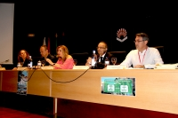 De izquierda a derecha, Amalia Reina, Miguel Ángel Rando, Rosario Mérida, Antonio Agraz y Francisco Alós, en la inauguración del encuentro