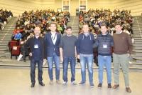 Organizadores del 'Security High School', en el aula magna del aulario Averroes de la Universidad de Córdoba