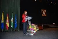María Teresa, durante su discurso de agradecimiento