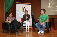 De izquierda a derecha, Paco Acedo, Marta Domínguez y Carlos Chamorro.