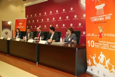 Autoridades en la rueda de prensa para presentar las actividades previas a la celebración de los Juegos