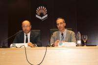 De izquierda a derecha, Antonio Cubero y Tomás de Miguel, durante la inauguración de las jornadas