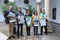 Esperanza Jaqueti, la primera por la derecha, junto al resto de autoridades que han intervenido en la presentación de la actividad