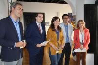 De izquierda a derecha, Pablo García, Rafael Bonilla, Mª del Mar Téllez, José Mª Gala y Rosario Mérida.