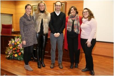 De izq a dcha Adela González, Elena Gómez, Antonio Raigón, Carmen Balbuena y Cristina Huertas