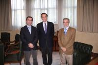De izq a dcha, Ezequiel Herruzo, Jose Carlos Gómez y Jose Carlos Sánchez