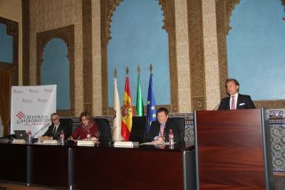 De izquierda a derecha, Francisco Pérez Jiménez, Julieta Mérida García, Rafael Moreno Rojas y Rafael Jordano Salinas.