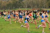 Fotografía de la salida de la carrera femenina