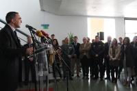 Alfonso Zamorano durante su intervención en el acto inaugural del Salón del Estudiante