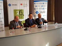 Un momento de la comparecencia del rector de la UCO en las jornadas de  Mallorca