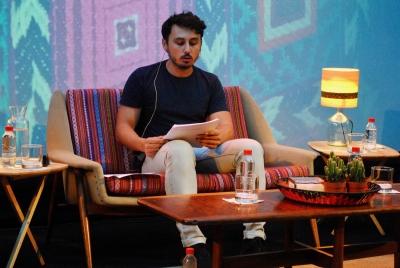 Jorge Villalobos, ganador de UCOpoética 2017, en el festival Cosmopoética