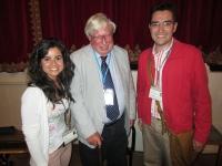 Ana Ferrer y Jose Angel Siles con el premio Nobel de Química 2007  Gerhardt Ertl ( en el centro)