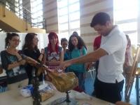 Degustación de jamón en el aulario  de Rabanales