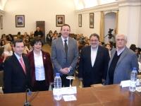 De izq a dcha Alberto Villar, Maria Angeles Raya, Eulalio Fernández, Jose Naranjo y Arturo Ramírez