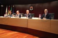 De izquierda a derecha, Josefina Vioque, Antonio Cubero, Jesús Huertas, Esteban Ayuca en la inauguración de las jornadas