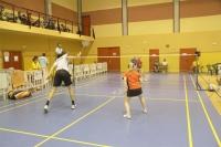 Un partido de badminton de los Juegos Universitarios Europeos celebrados en Córdoba