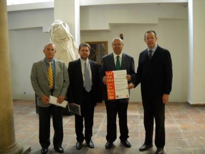 De izq a dcha, Rodríguez Neila, Lorenzo Ramos, Juan Miguel Moreno y Eulalio Fernández